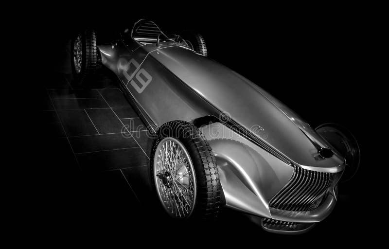 Chrome汽车原型银06 免版税库存图片