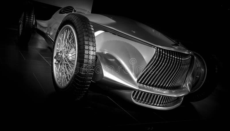 Chrome汽车原型银05 库存照片