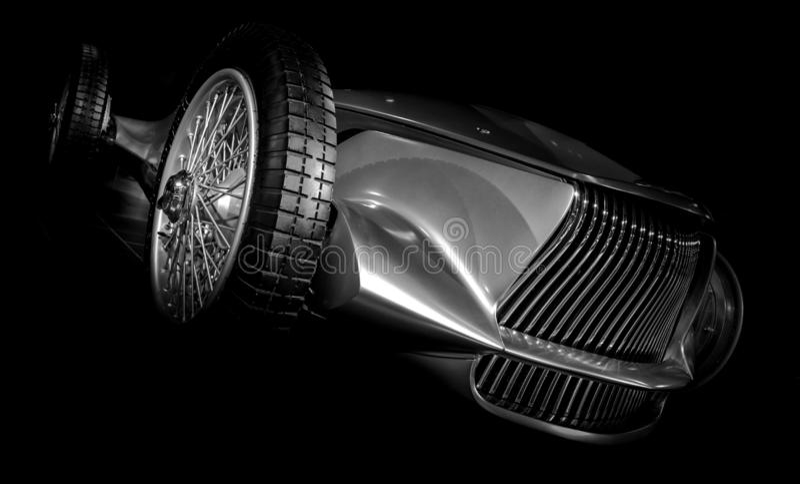 Chrome汽车原型银03 库存图片