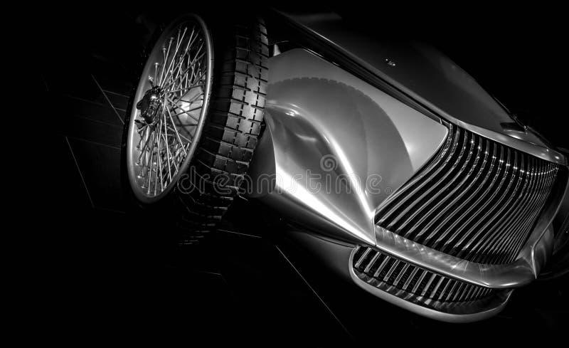 Chrome汽车原型银02 免版税库存照片