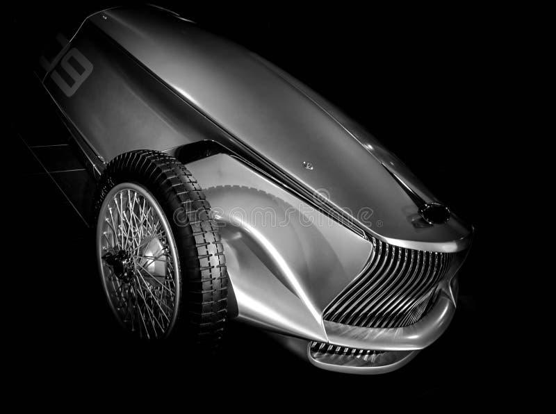 Chrome汽车原型银01 免版税库存图片