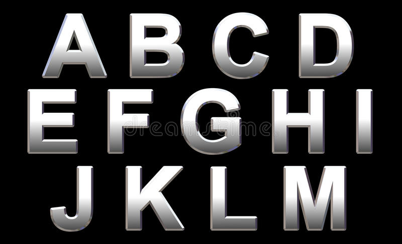 Download Chrome Alphabet Royalty Free Stock Photography - Image: 11805077
