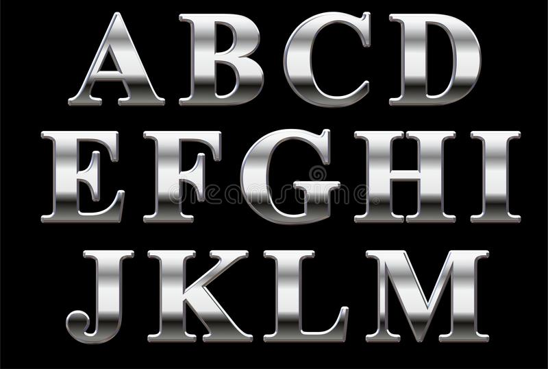 Chrome Alphabet royalty free stock photos
