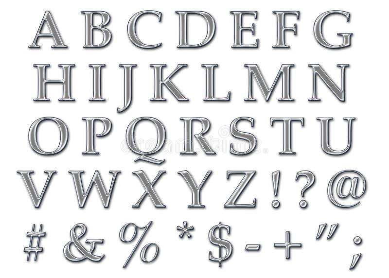 Chrome Alphabet Uppercase Stock Photo