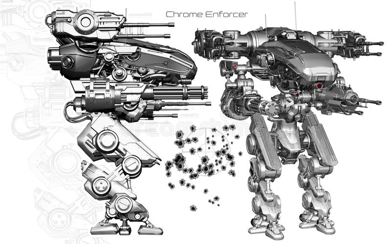 Chrome-Authorität vektor abbildung