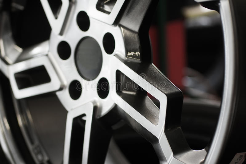 Chrome-Auto-Rad stockbild