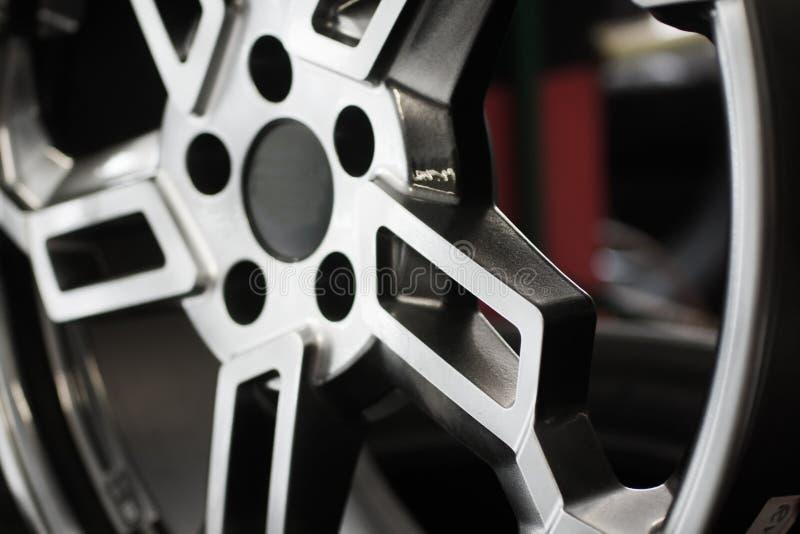 Chrome-Autowiel stock afbeelding