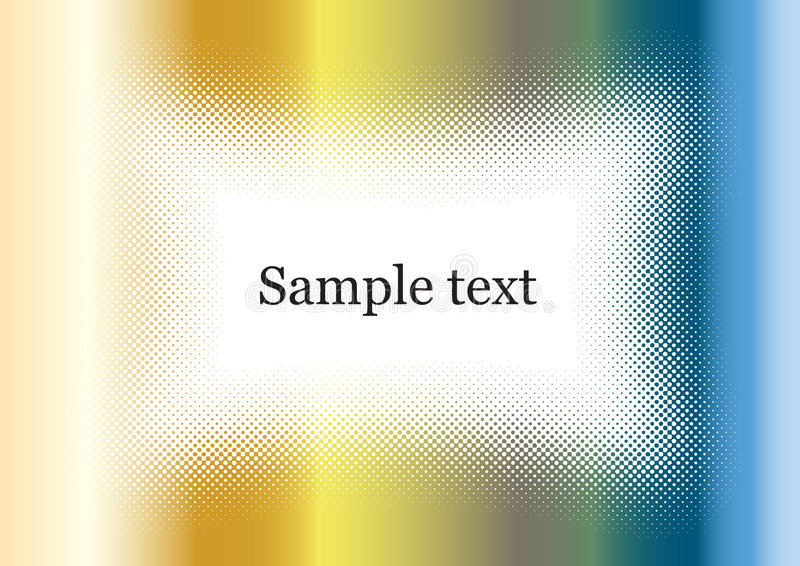 Chrome background frame colorful with sample text vector illustration