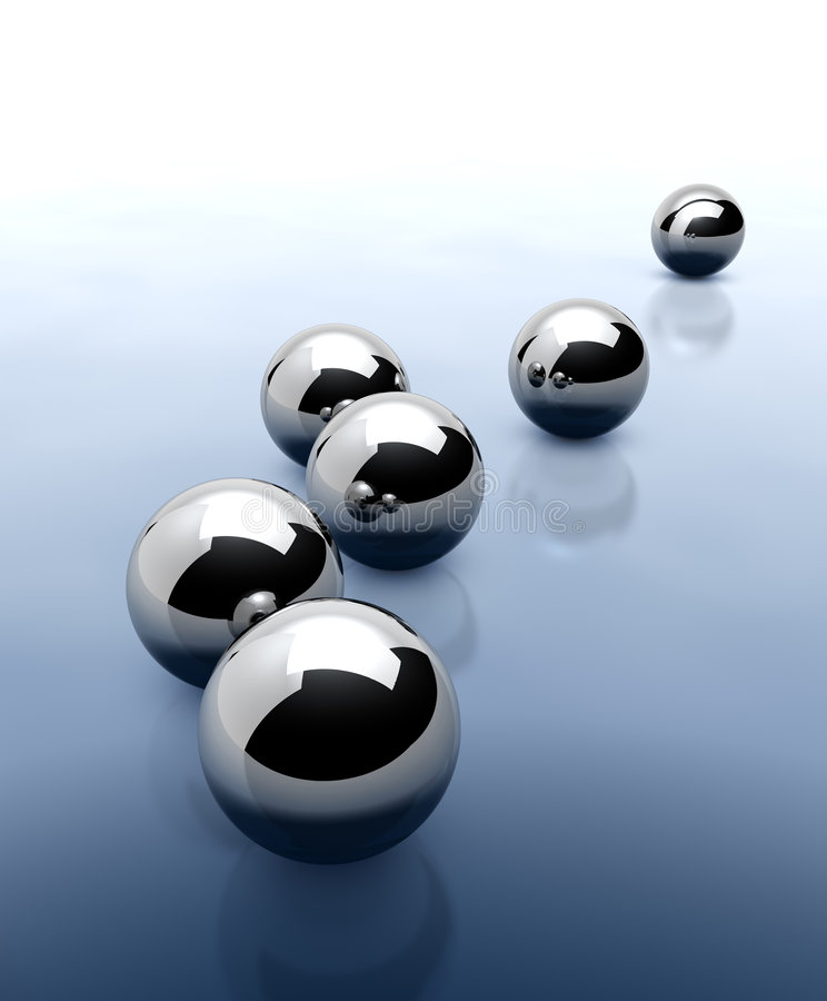 Download Chrome Spheres Abstract Background Stock Illustration - Image: 7042381