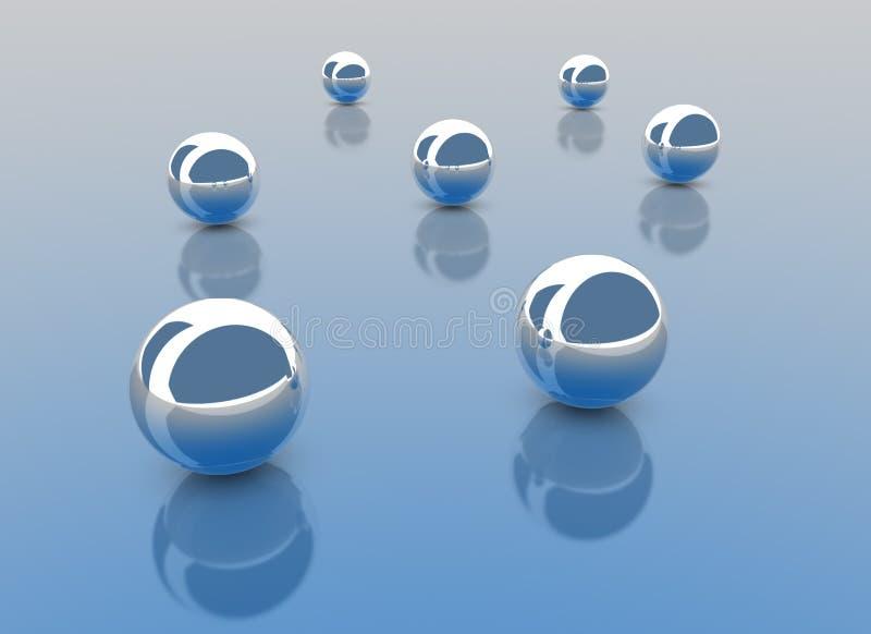 Chrome Balls vector illustration