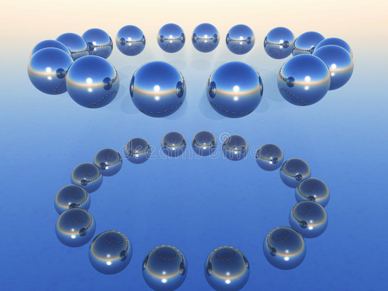 Chrome balls in circle vector illustration