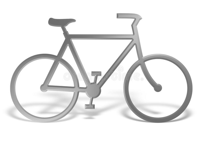 Chrome bike royalty free stock images