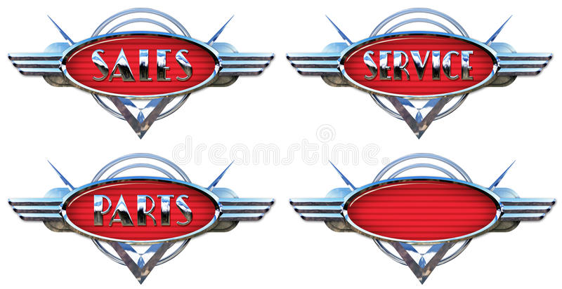 Chrome billogo stock illustrationer