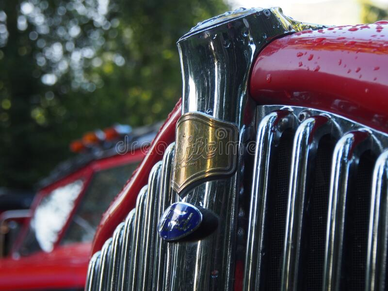 Chrome car grill royalty free stock images