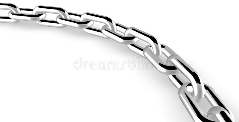 Download Chrome chain stock illustration. Image of fail, breaking - 14828235