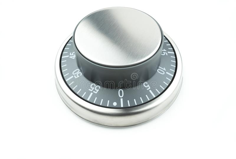 Chrome control dial stock image