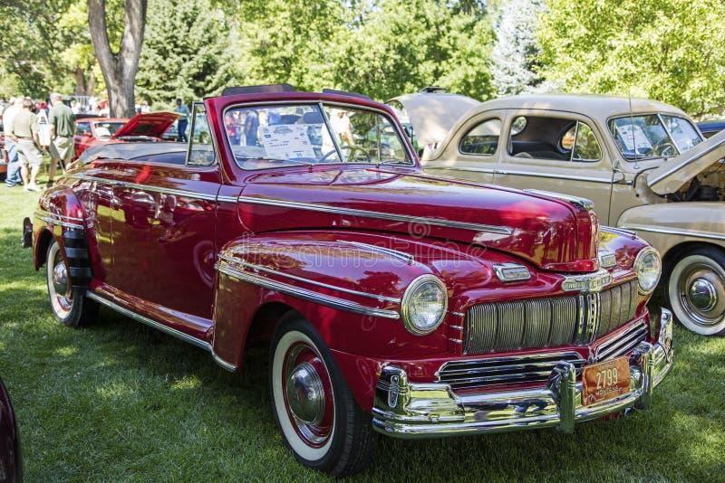 Chrome 1946 convertible de vintage de Mercury 2dr photo stock