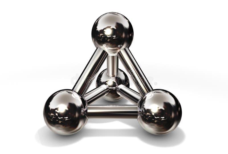 Chrome de structure de molécule illustration libre de droits