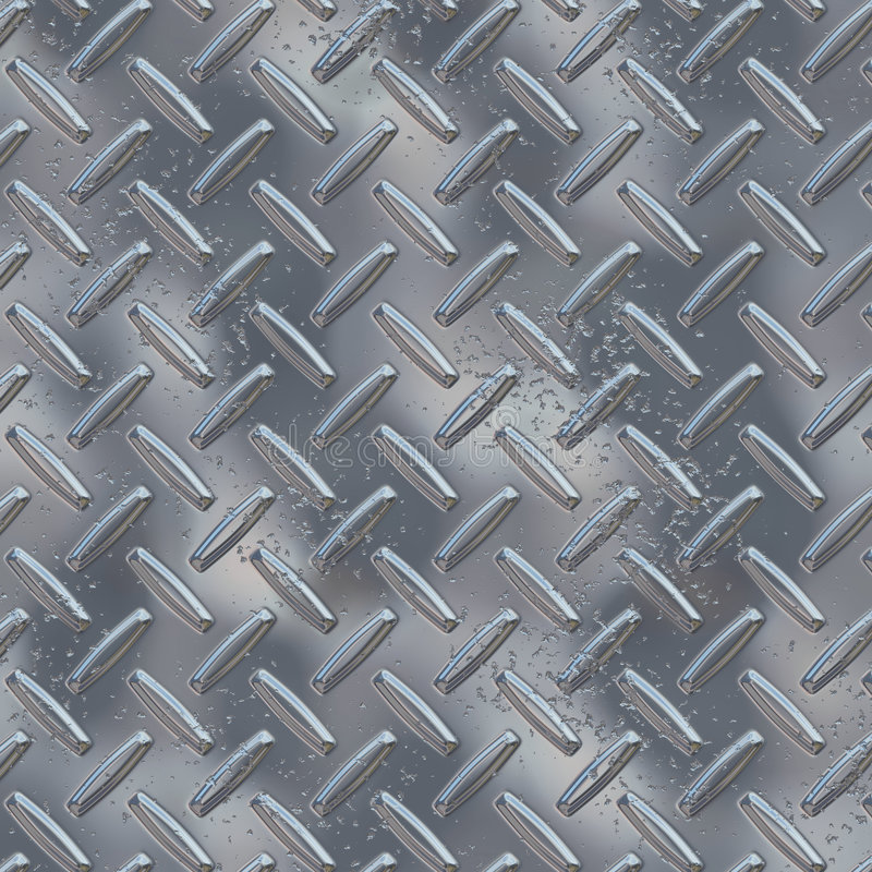 Chrome diamond plate. Shiny silver chrome diamond plate royalty free illustration