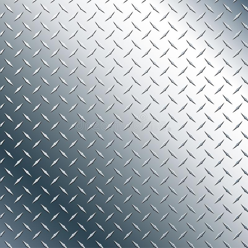 Chrome Diamond Plate Realistic Vector Graphic Illustration stock photo
