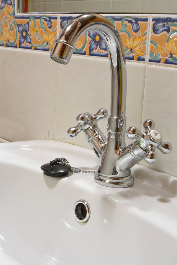Chrome Faucet stock image