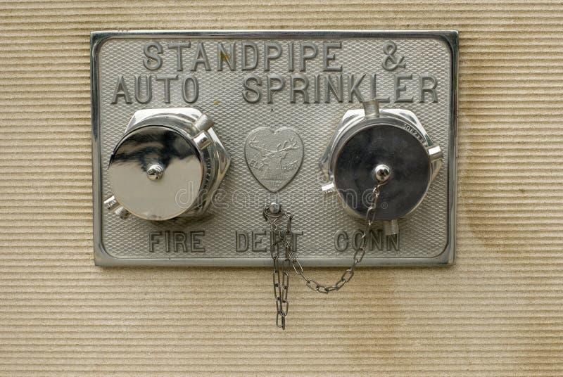 Chrome Fire Sprinkler Stock Image