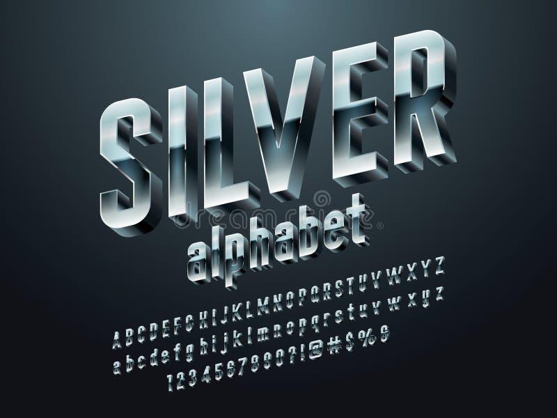 Chrome font royalty free illustration