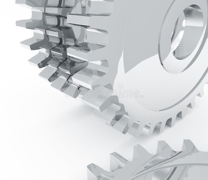 Chrome-Gänge stock abbildung