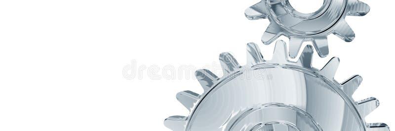 Chrome gears stock illustration