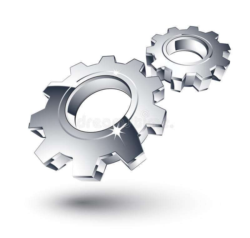 Free Chrome Gears Royalty Free Stock Image - 9539096