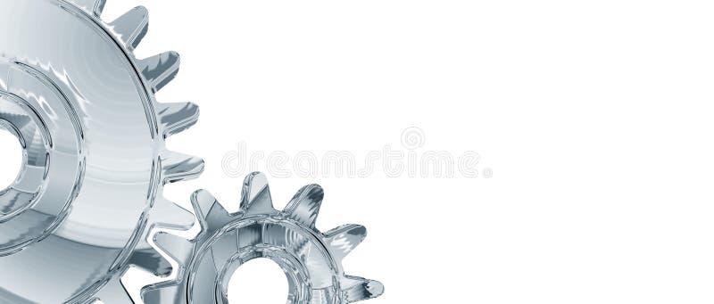 Chrome Gears Background stock illustration
