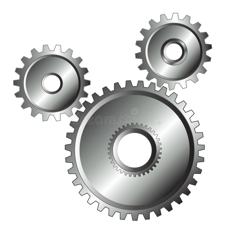 Download Chrome Gears Isolated Design Stock Photos - Image: 23777973