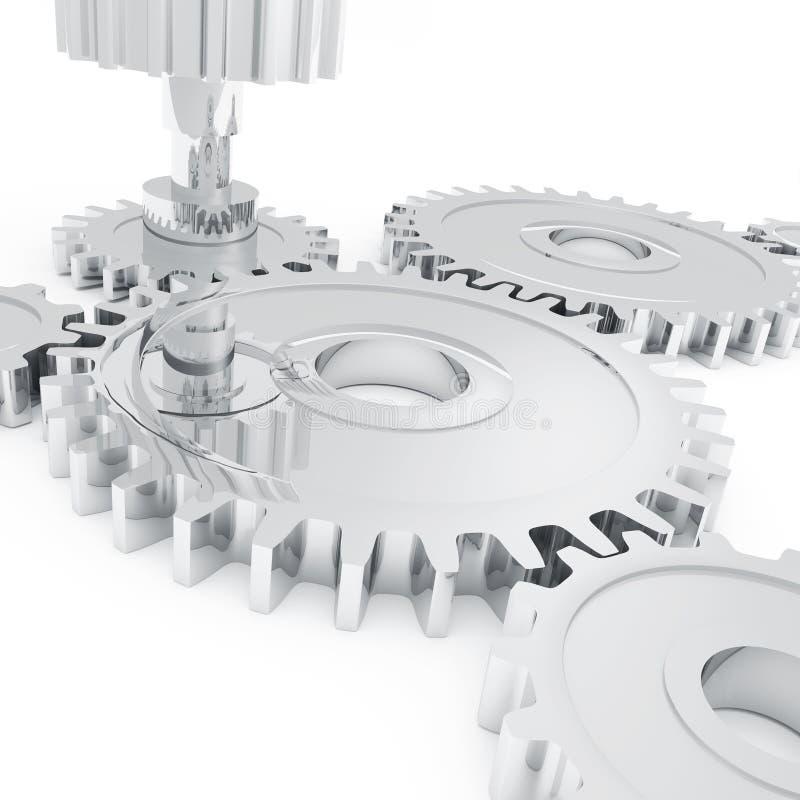 Chrome gears vector illustration