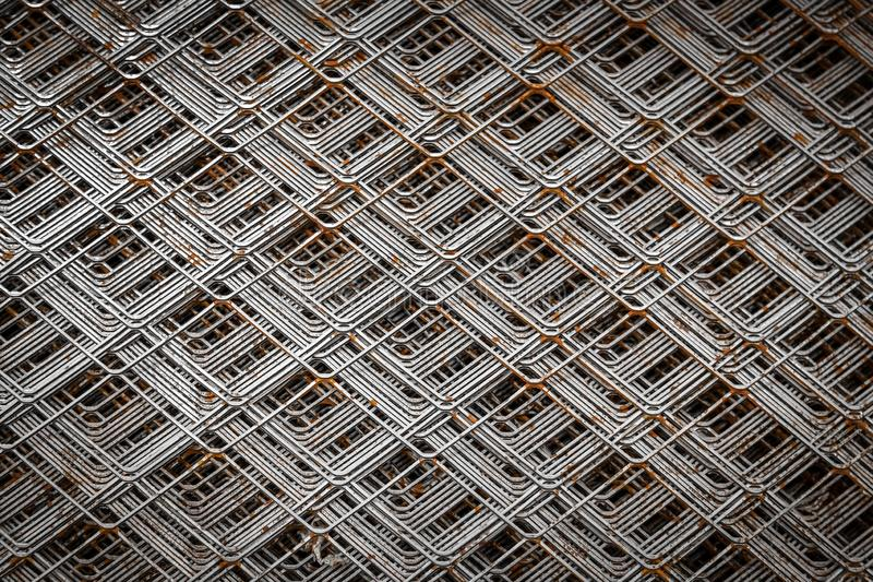 Chrome grille 3D detail for building. stock image