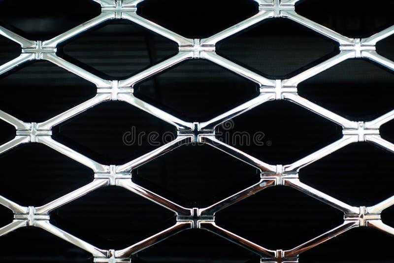 Chrome grille of a modern car close-up stock photos