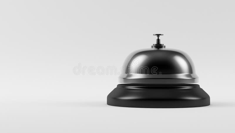 Chrome-Hotel Bell lizenzfreie abbildung