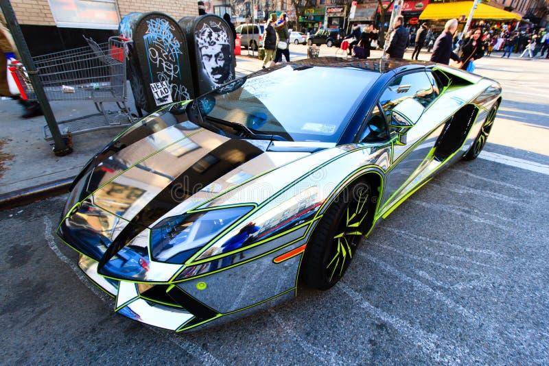 Chrome Lamborghini foto de archivo