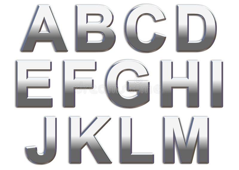 Chrome Letters stock photos
