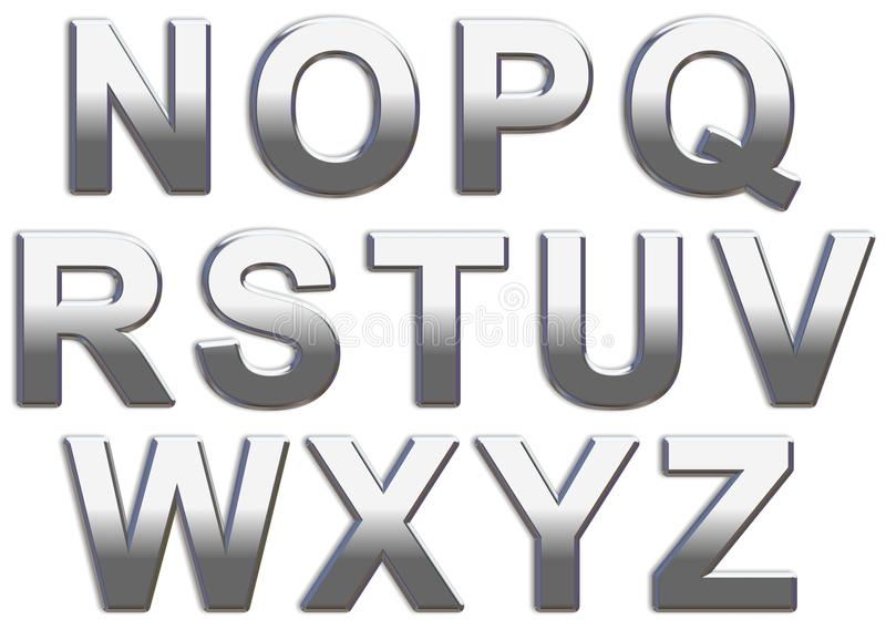 Chrome Letters royalty free stock photography