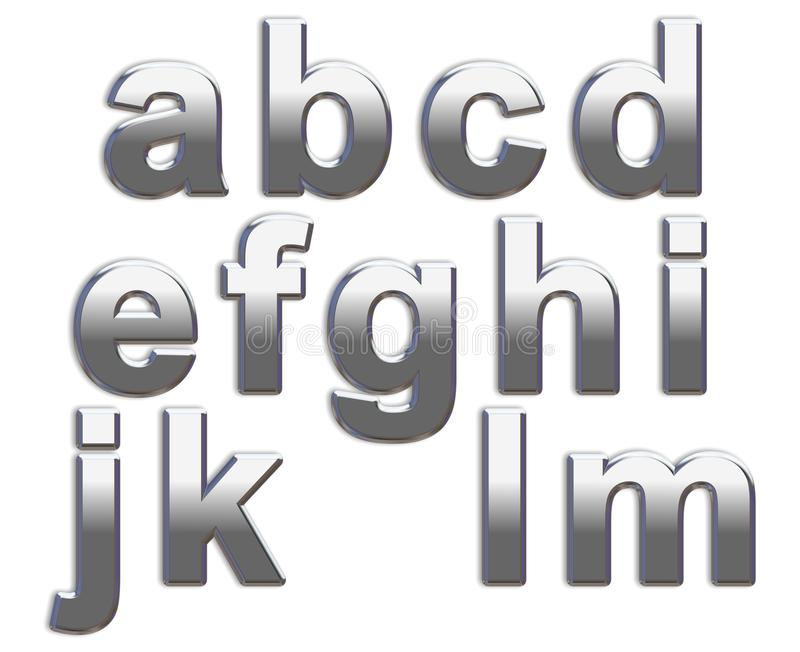 Chrome Letters stock images