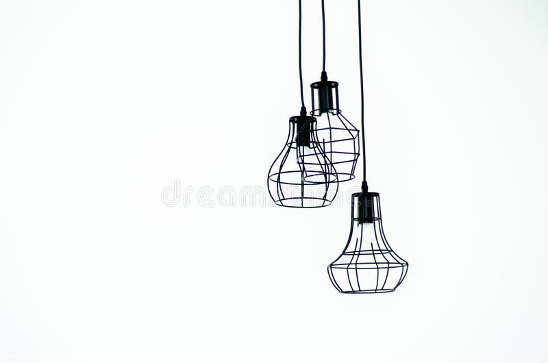 Chrome lights inside the house royalty free stock images