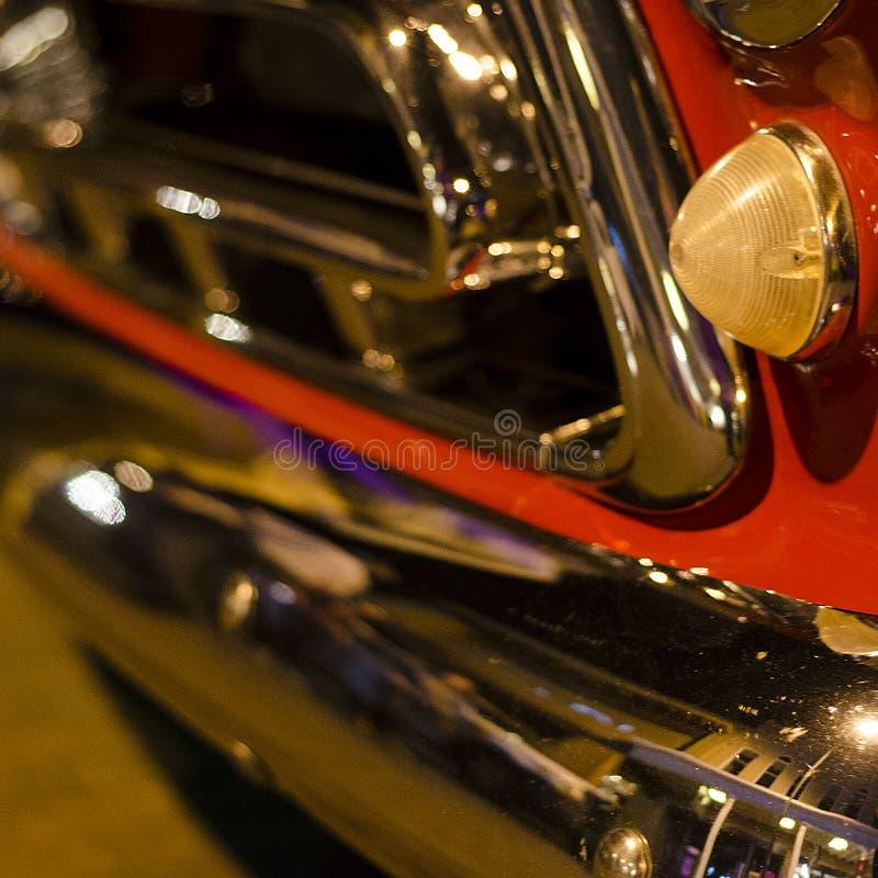 Chrome, lumières et réflexions au salon automobile et au concert sur la plaza en Santa Fe New Mexico photographie stock
