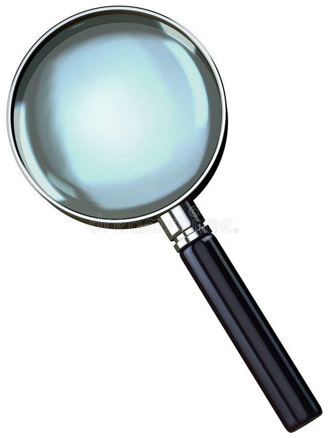 Chrome Magnifying Glass stock illustration