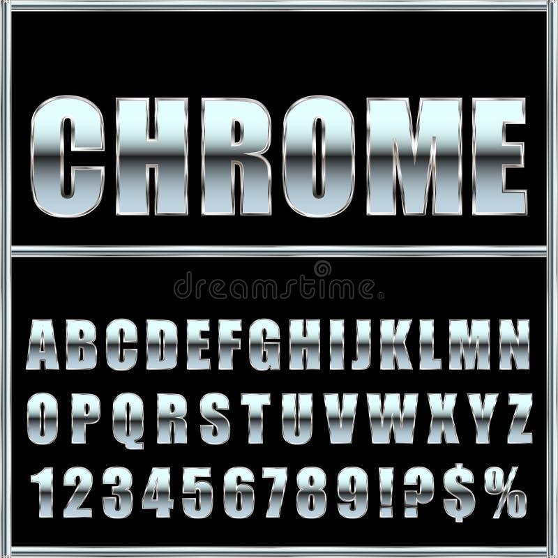 Chrome-metaaldoopvont en symbolen voor ontwerp vector illustratie