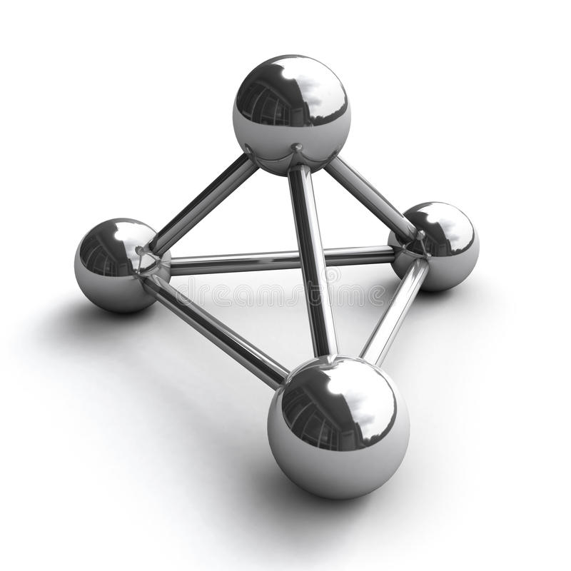 Download Chrome Molecule Stock Image - Image: 24906241