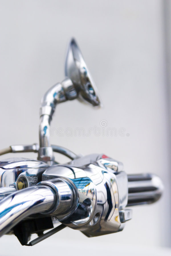 Chrome motorcycle handlebar