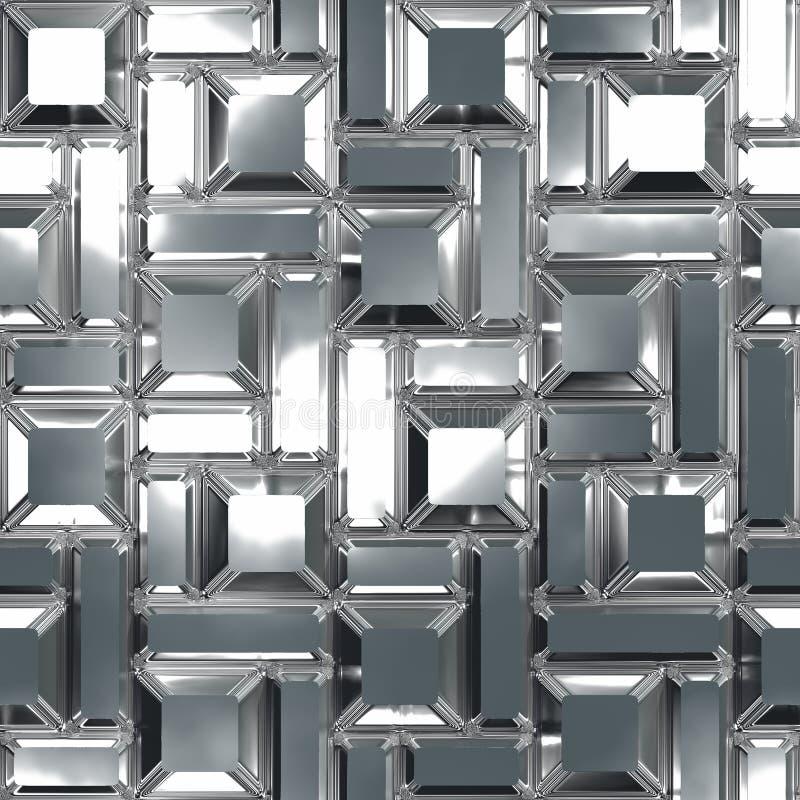 Chrome-Muster vektor abbildung