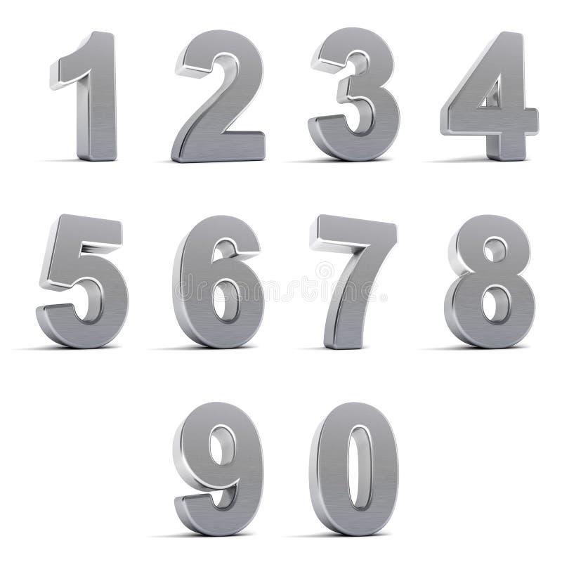 Download Chrome Numbers stock illustration. Illustration of seven - 19751112