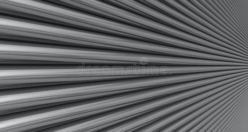 Chrome Pipes. Chrome bars trailing off into the distance. An abstract background stock photo