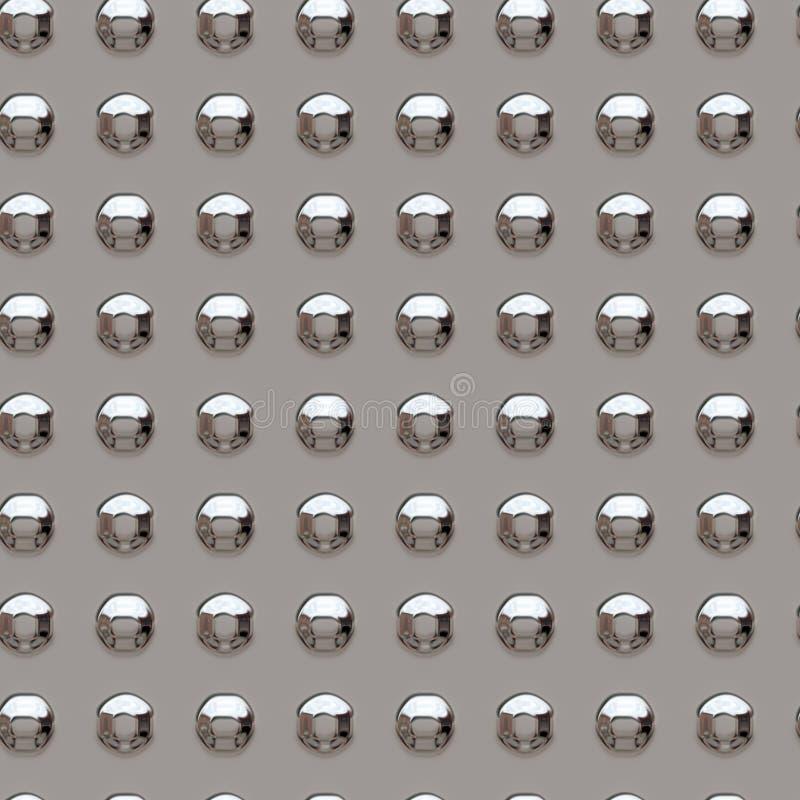 Chrome rivets. Illustration of chrome rivets - seamless tile royalty free illustration